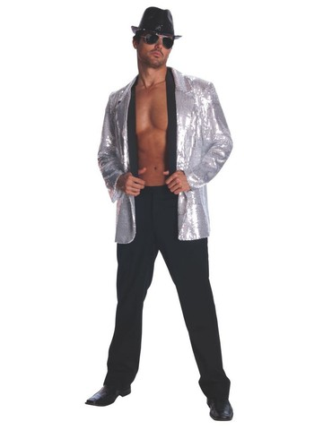 Silver Sequin Jacket for Adults