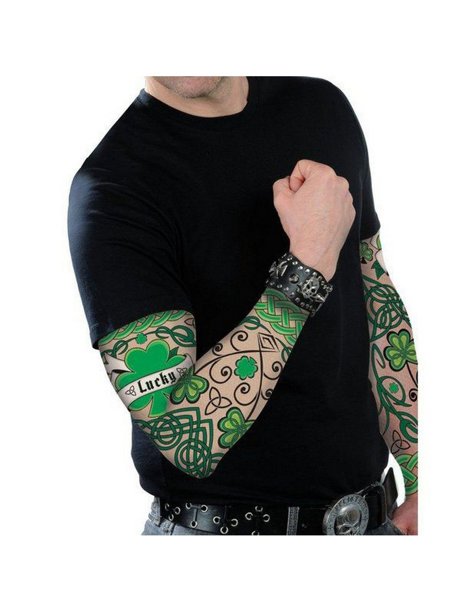 View larger image of Adult St. Patty's Day Arm Tattoo Sleeves