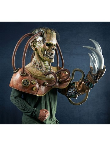 Adult Steampunk Frankenstein Mask and Arm