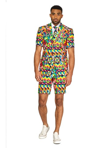 Opposuits Adult Summer Abstractive Retro Suit