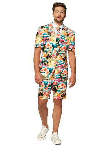 Opposuits Adult Summer Aloha Hero Tropical Suit