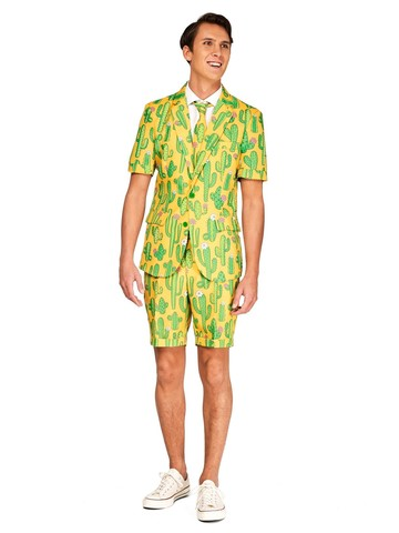 Opposuits Adult Sunny Yellow Cactus Plant Summer Suit