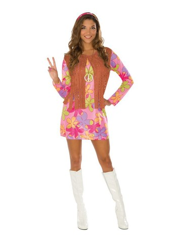 Happy Sunshine Hippie Costume for Adult