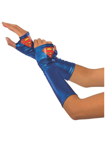 Supergirl Gauntlets Adult Costume Accessory