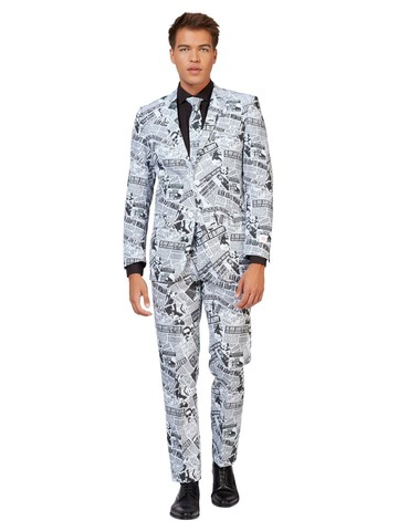 Opposuits Adult Textile Telegraph Newspaper Suit