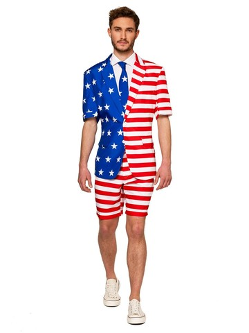 Opposuits Adult USA Flag Americana Summer Suit