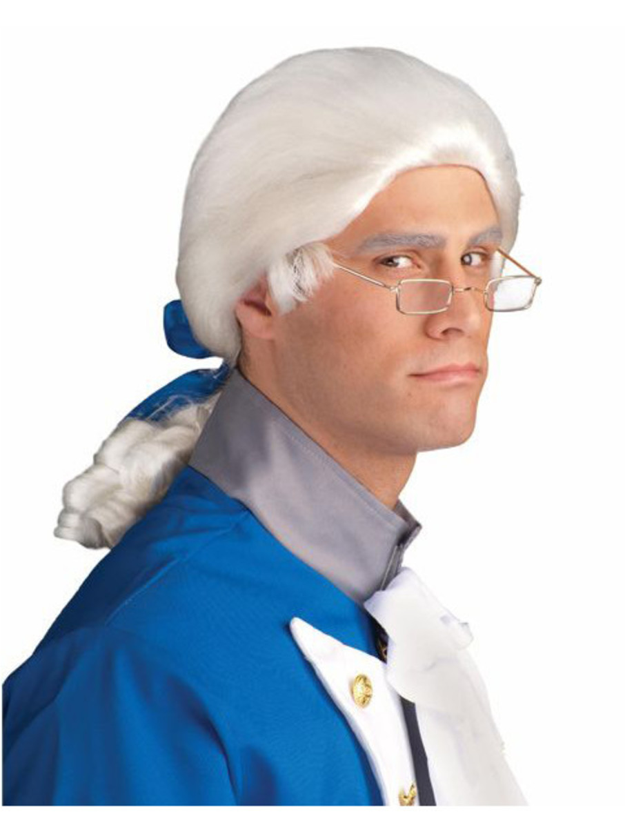 View larger image of Adult White Duke Wig With Bow