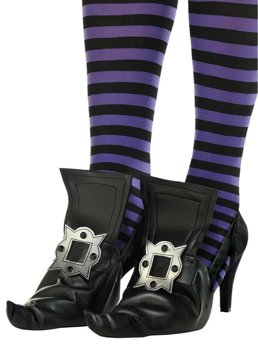 View larger image of Adult Witch Shoe Covers with Gold Buckles