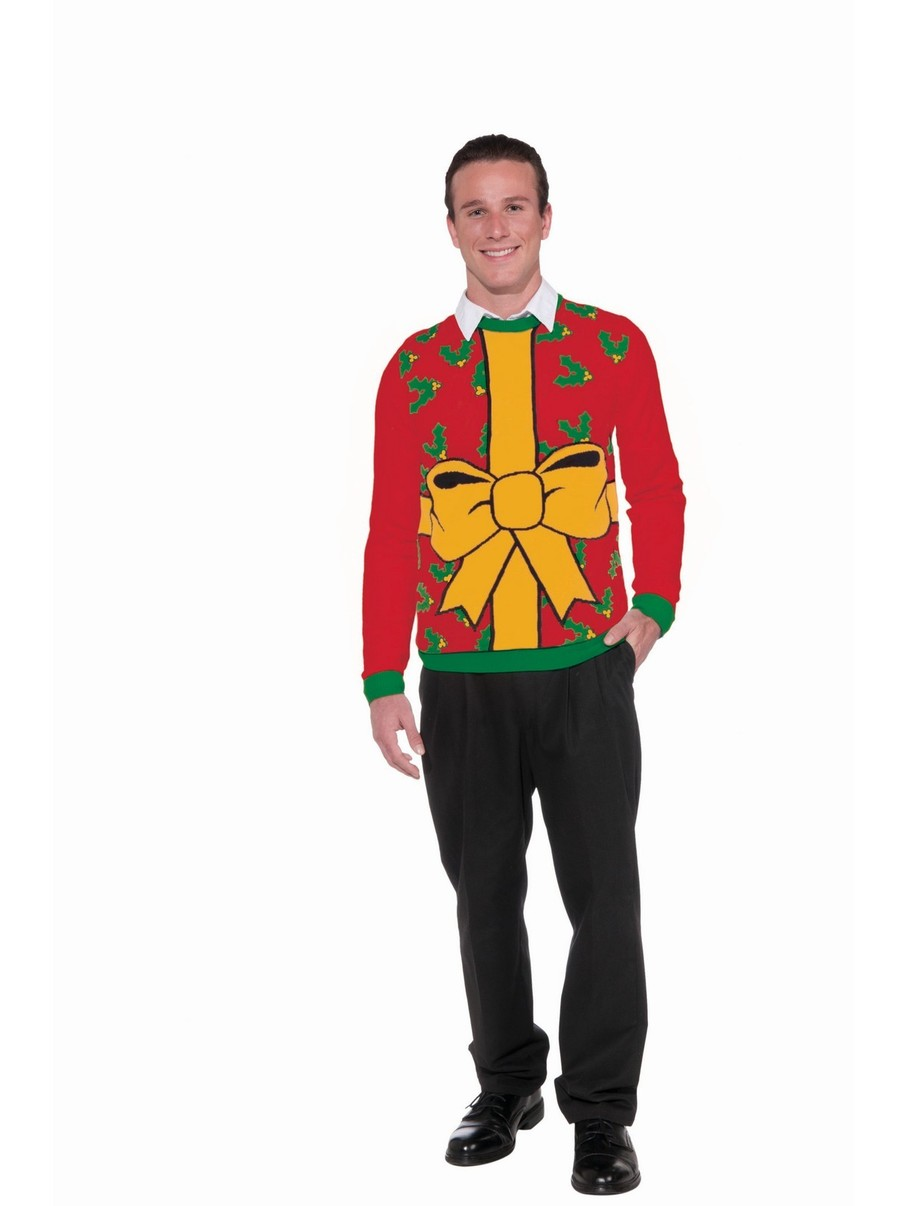 View larger image of Red Wrapped Up Christmas Sweater