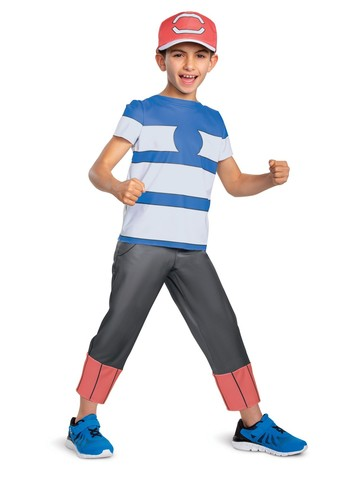 Ash Ketchum Alolan Classic Costume for Kids