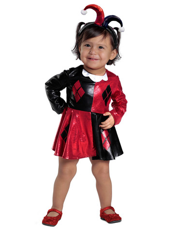 Baby Harley Quinn Dress & Diaper Cover Set Costume