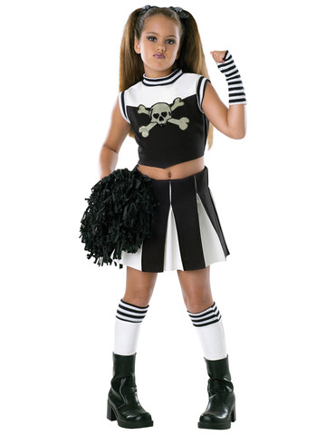 Girls Bad Spirit Cheerleader Costume