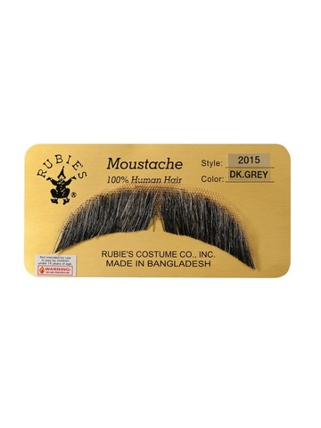 Basic Character Moustache Accessory - Dark Grey
