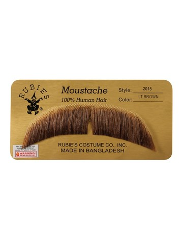 Basic Character Moustache Accessory - Light Brown