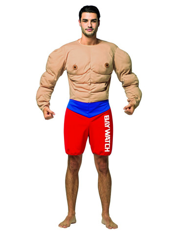 Baywatch - Muscle Lifeguard - Costume for Adults