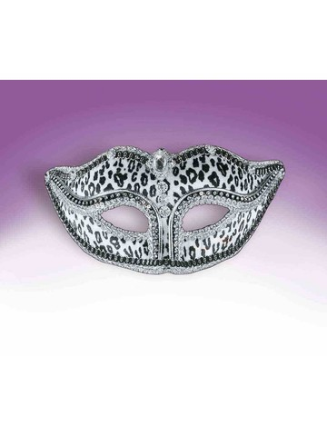 Snow Leopard Bejeweled Mask