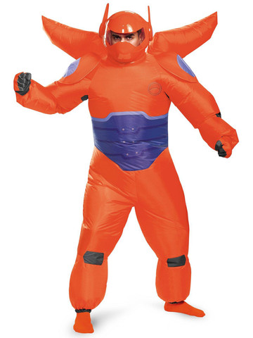 Big Hero 6: Red Baymax Inflatable Costume For Adults