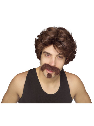 Big John Wig with Moustache & Goatee Accessory