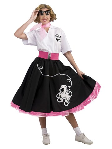 Black 50s Poodle Complete Costume
