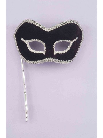 Black And Silver Stick Mask