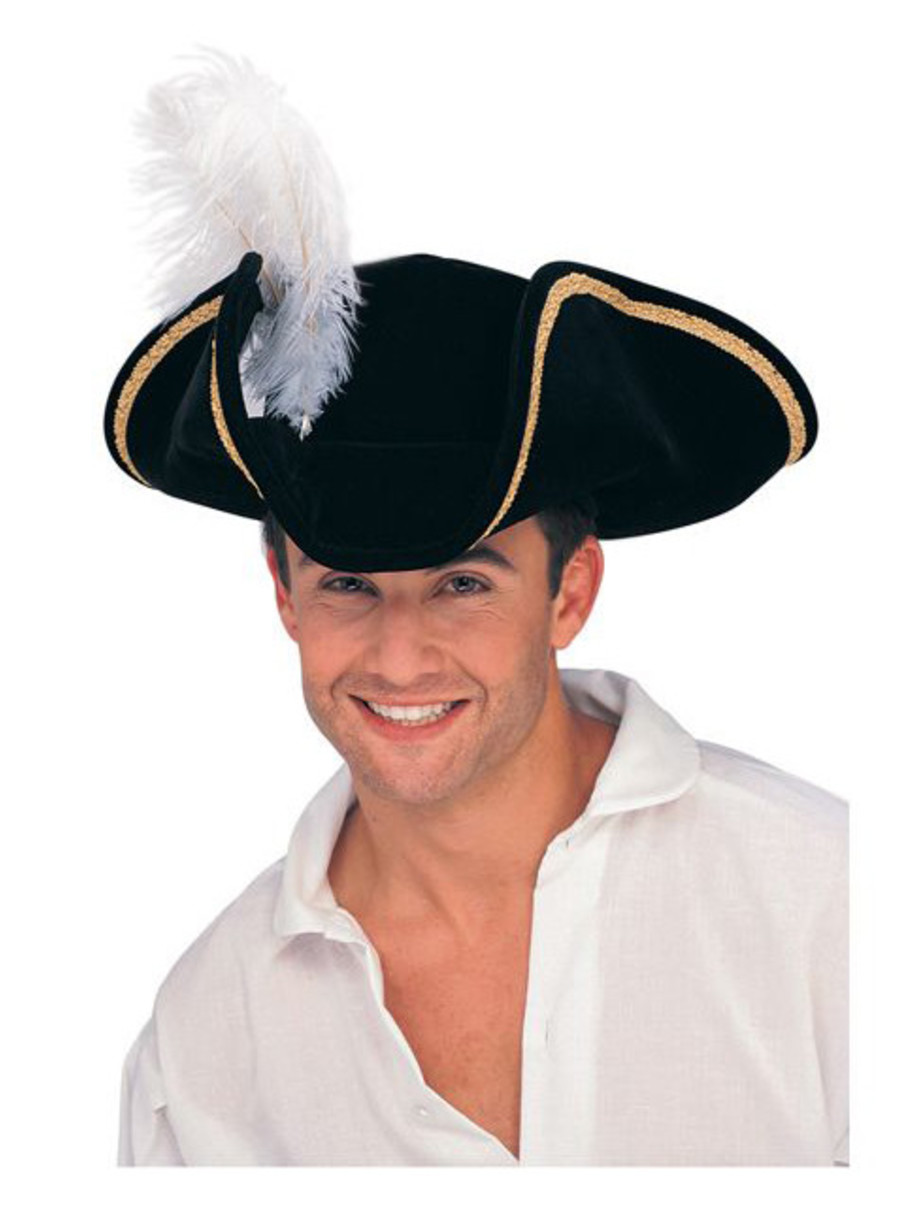 View larger image of Black Buccaneer Tricorn Hat Adult