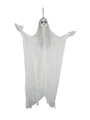 Hanging Black-Eyed White Ghost Prop