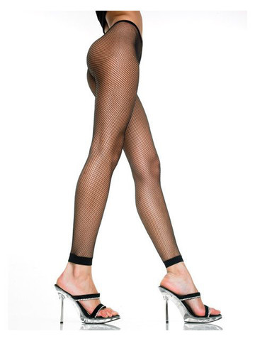 Black Fishnet Three Quarters Length Leggings