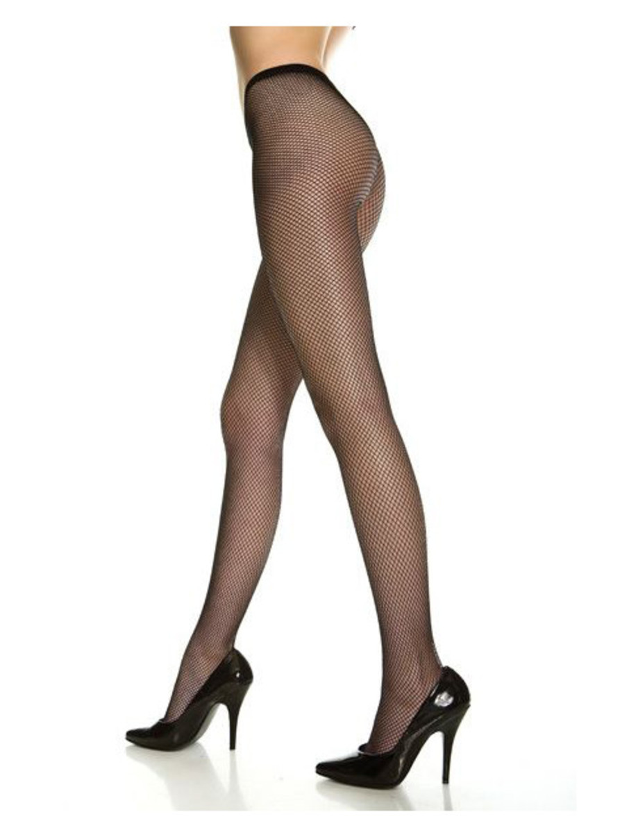 View larger image of Black Nylon Fishnet Stockings Adult Queen Size