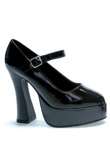 Black Patent Mary Jane Shoe Adult