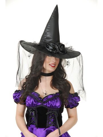 Witch Black Rose Hat Accessory