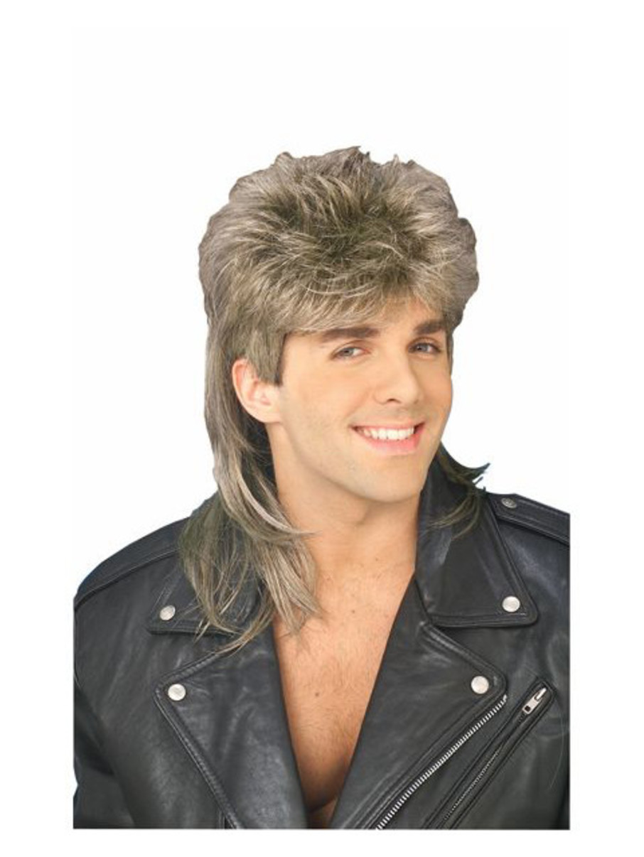 View larger image of Blonde Mullet Wig Adult