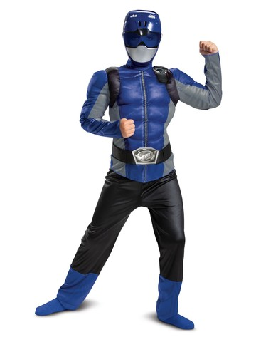 Beast Morpher Blue Ranger Classic Muscle Costume for Kids