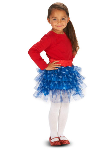 Blue White Stars Child Tutu