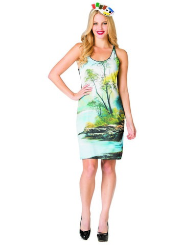 Bob Ross Painting Tank Dress Costume for Women