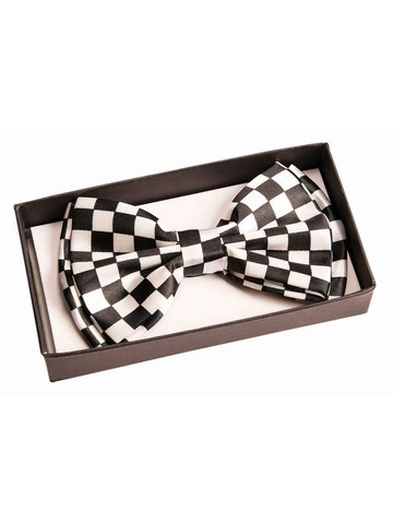 Black and White Checkers Bowtie