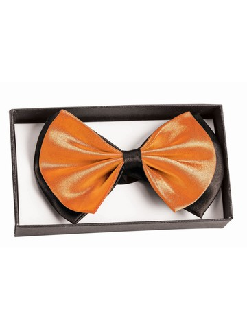 Black and Orange Bowtie