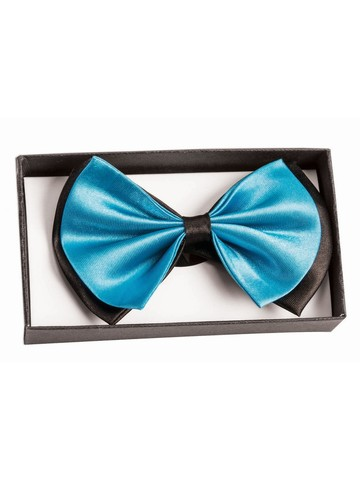 Black and Teal Bowtie