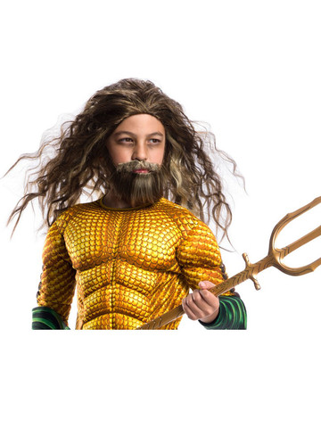 Aquaman Movie Kids Aquaman Child Beard and Wig Set