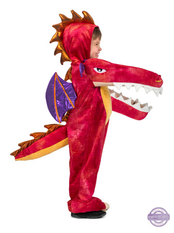 Chompin' Red Dragon Costume for Boys