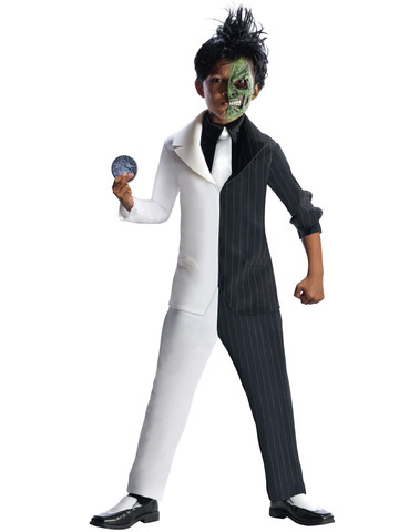 Boys DC Comics BatMens Super Villain Two-Face Costume