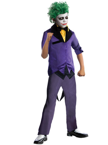 Boys DC Comics Gotham Super Villains Joker Costume