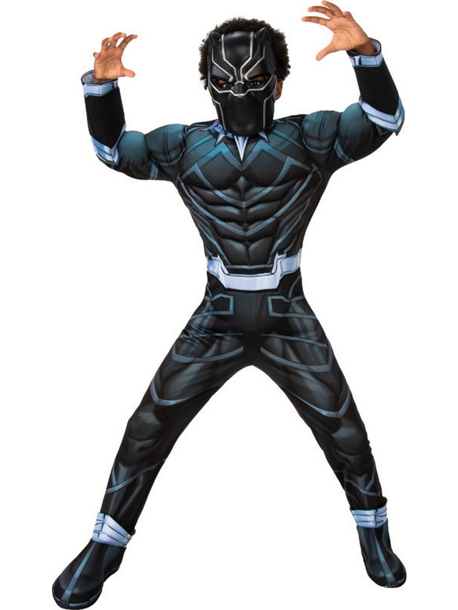 View larger image of Deluxe Black Panther Costume for Boys