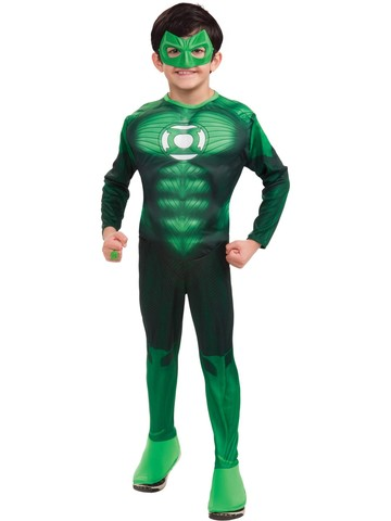 Boys Muscle Chest Green Lantern Deluxe