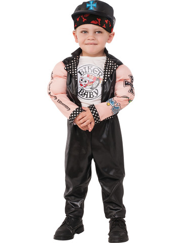 Boys Muscle Man Biker Costume