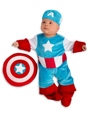 Marvel - New Born Boy's Captain America Costume
