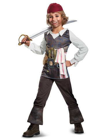 Boys Potc5 Captain Jack Costume