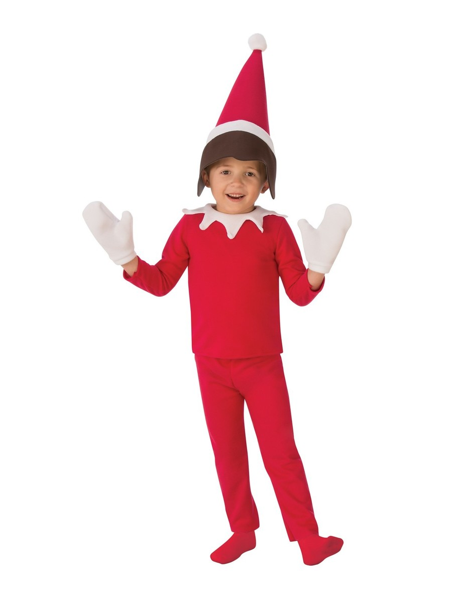 View larger image of Sitting Elf Costume Boy