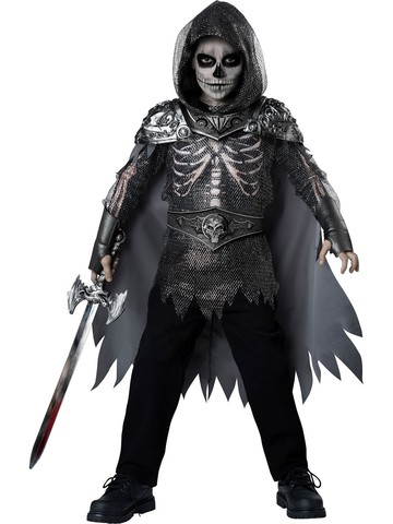 Boys Skull Knight Medium Costume