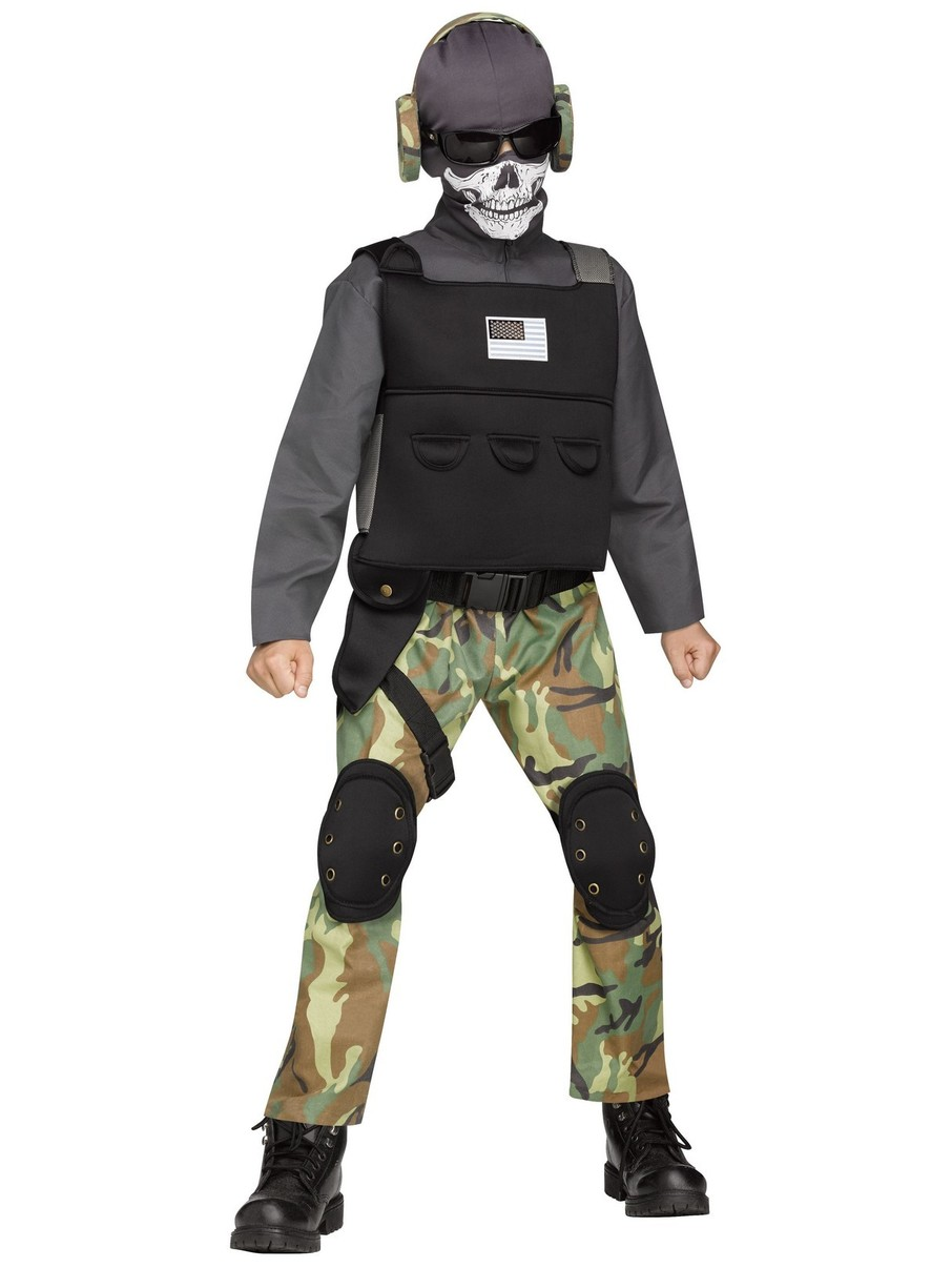 View larger image of Boys Skull Soldier Costume