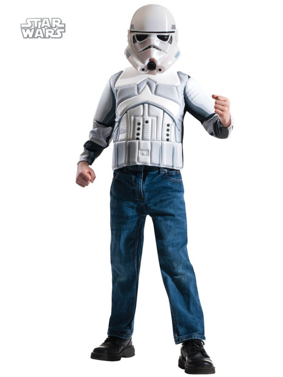 View larger image of Boys Storm Trooper Muscle Chest Shirt Set Costume